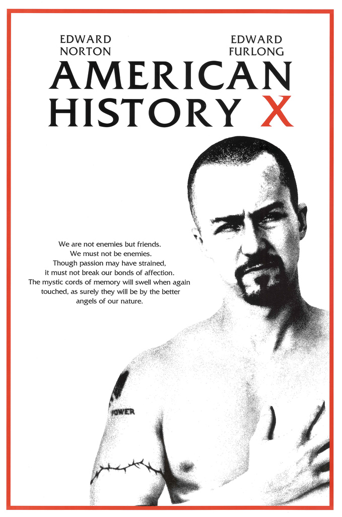 American History X Edward Norton 24x36inch Classic Movie Silk Poster Decoration