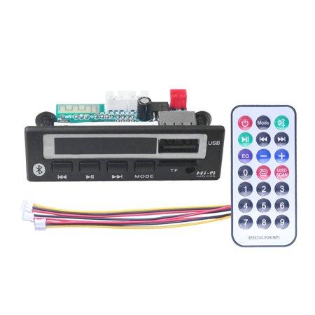 MP3 WMA WAV Decoder Board 5V 12V Wireless Audio Module Color Screen USB - image 4 de 4