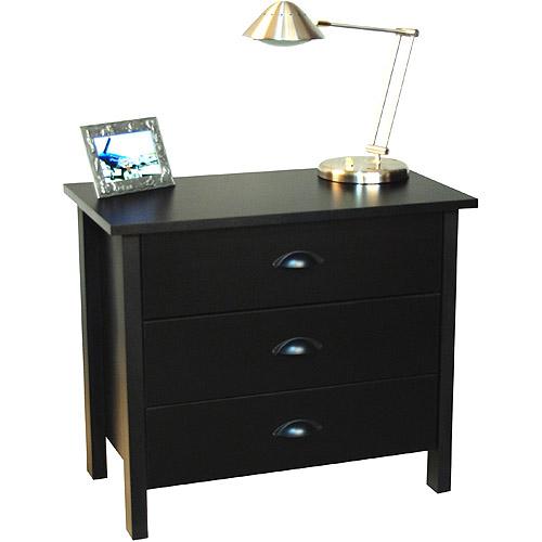 Nouvelle 3-Drawer Dresser, Black