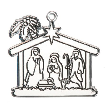 Bulk Buy: Crafts for Kids Suncatcher Nativity 4 inches (12-Pack) 1060-80, Price includes 12 pack of Suncatcher Nativity 4 inches 1060-80 By Darice