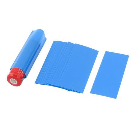 20pcs 18.5mm Dia PVC Heat Shrink Tubing f 1 x 18650/18500 -