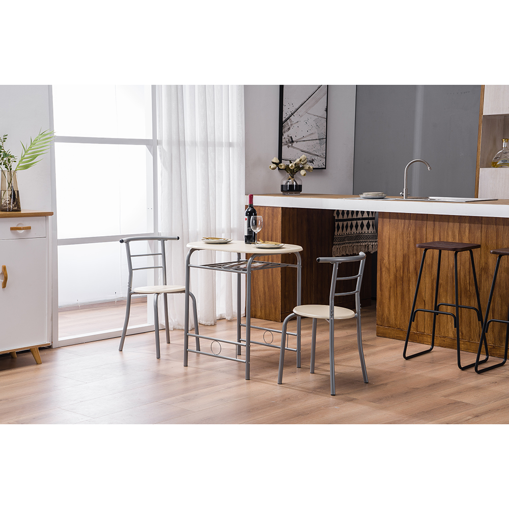 Pvc Breakfast Table One And Two Chairs Natural Walmart Com