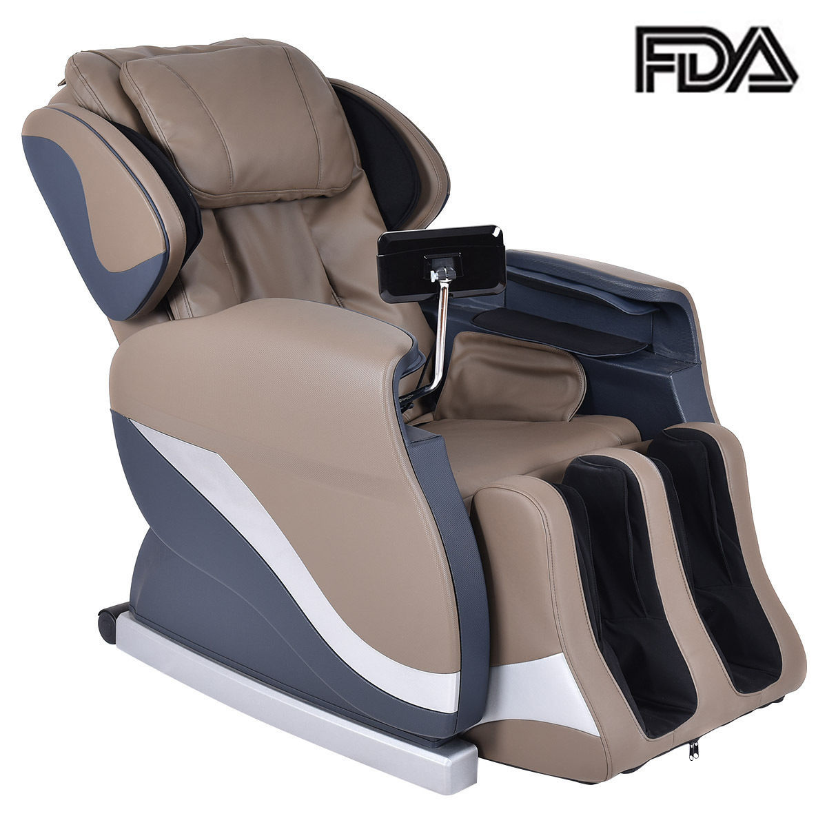 Costway Electric Full Body Shiatsu 25 Airbag Massage Chai...