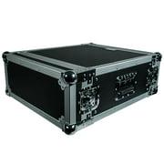 Seismic Audio 4 SPACE RACK CASE Amp Effect Mixer PA/DJ PRO Audio New Black - SAR4