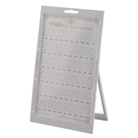 Bedroom Plastic Fingernail Polish Nail Gel Color Card Display Board White ()