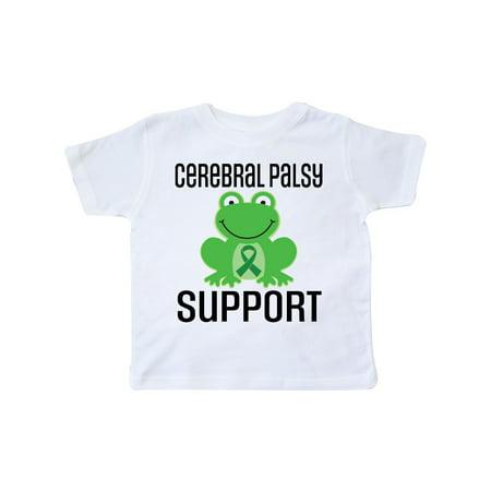 Cerebral Palsy Ribbon (Cerebral Palsy Support Ribbon Frog Awareness Toddler)