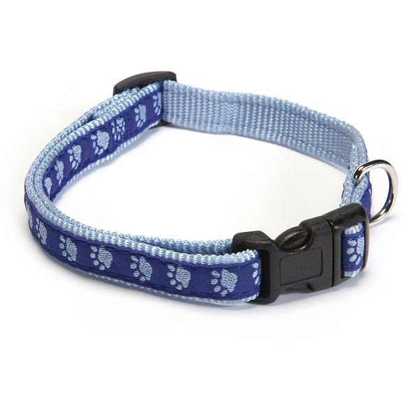 Guardian Gear Twotone Pawprint Collar 10-16in Blu
