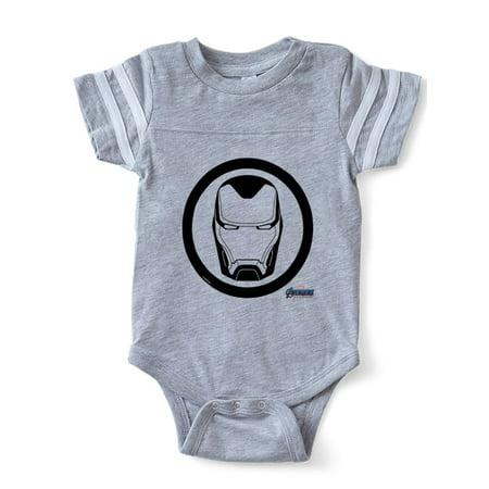 CafePress - Iron Man Logo - Cute Infant Baby Football Bodysuit - Iron Man Baby