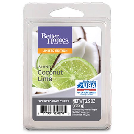 Better Homes & Gardens Island Coconut Lime Scented Wax Melts, 6 Count