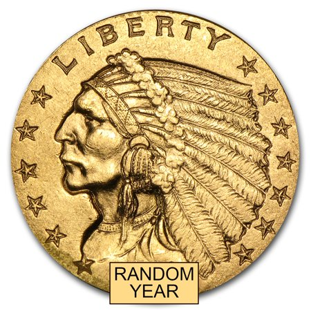 $2.50 Indian Gold Quarter Eagle XF (Random Year) (Indian Gold Coin)