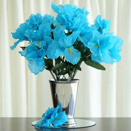 balsacircle 60 silk flowers for wedding party centerpieces. Black Bedroom Furniture Sets. Home Design Ideas