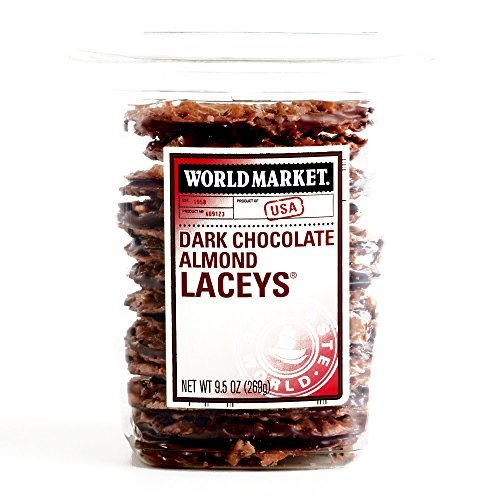 Dark Chocolate Almond Laceys 10 oz each (2 Items Per Order)