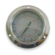 DWYER INSTRUMENTS BTPM24041 Bimetal Therm,2-1/2 In Dial,-40to160F