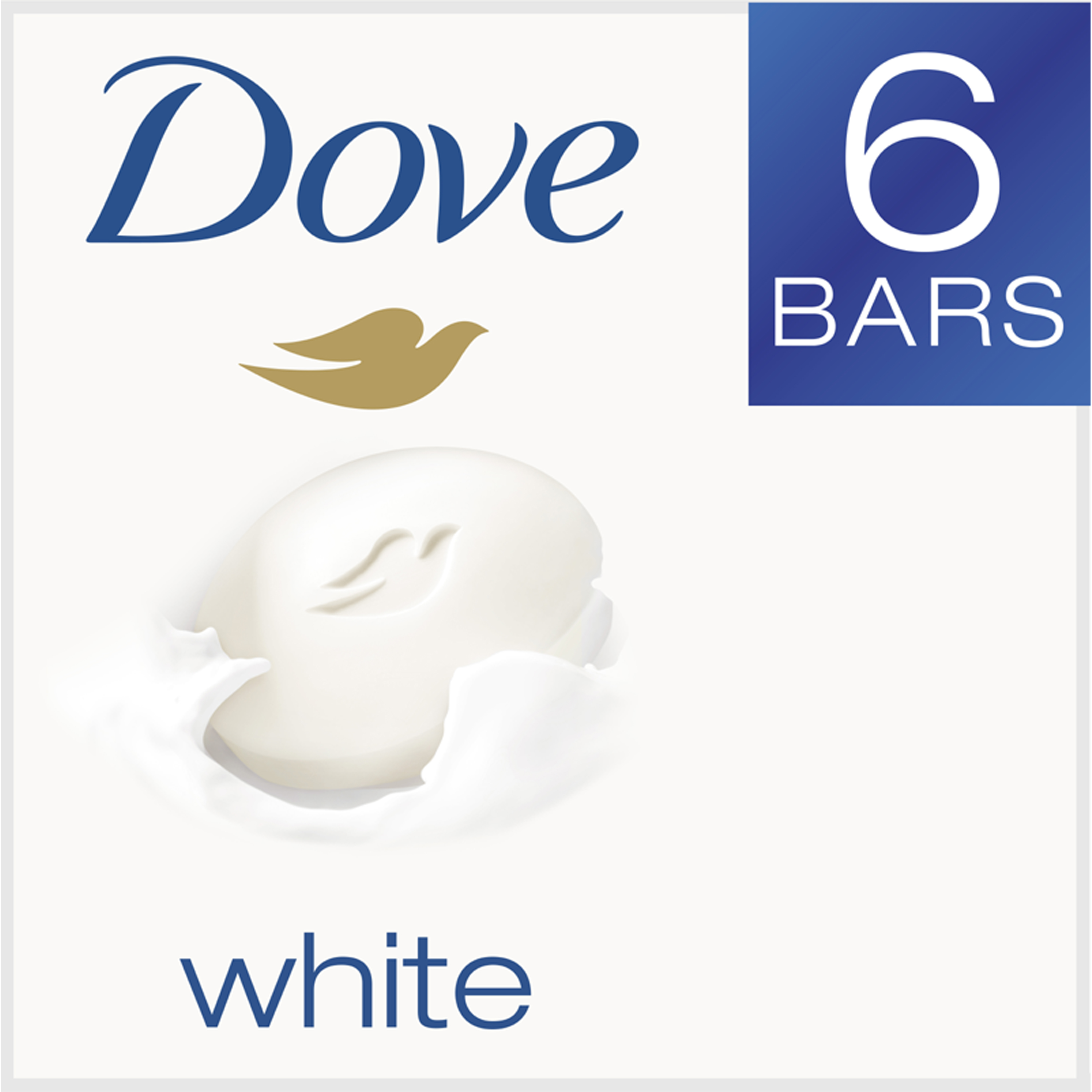 Dove White Beauty Bar, 4 oz, 6 Bar - Walmart.com