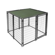 ALEKO 5' x 5' Dog Kennel Shade Cover with Aluminum Grommets, Dark Green