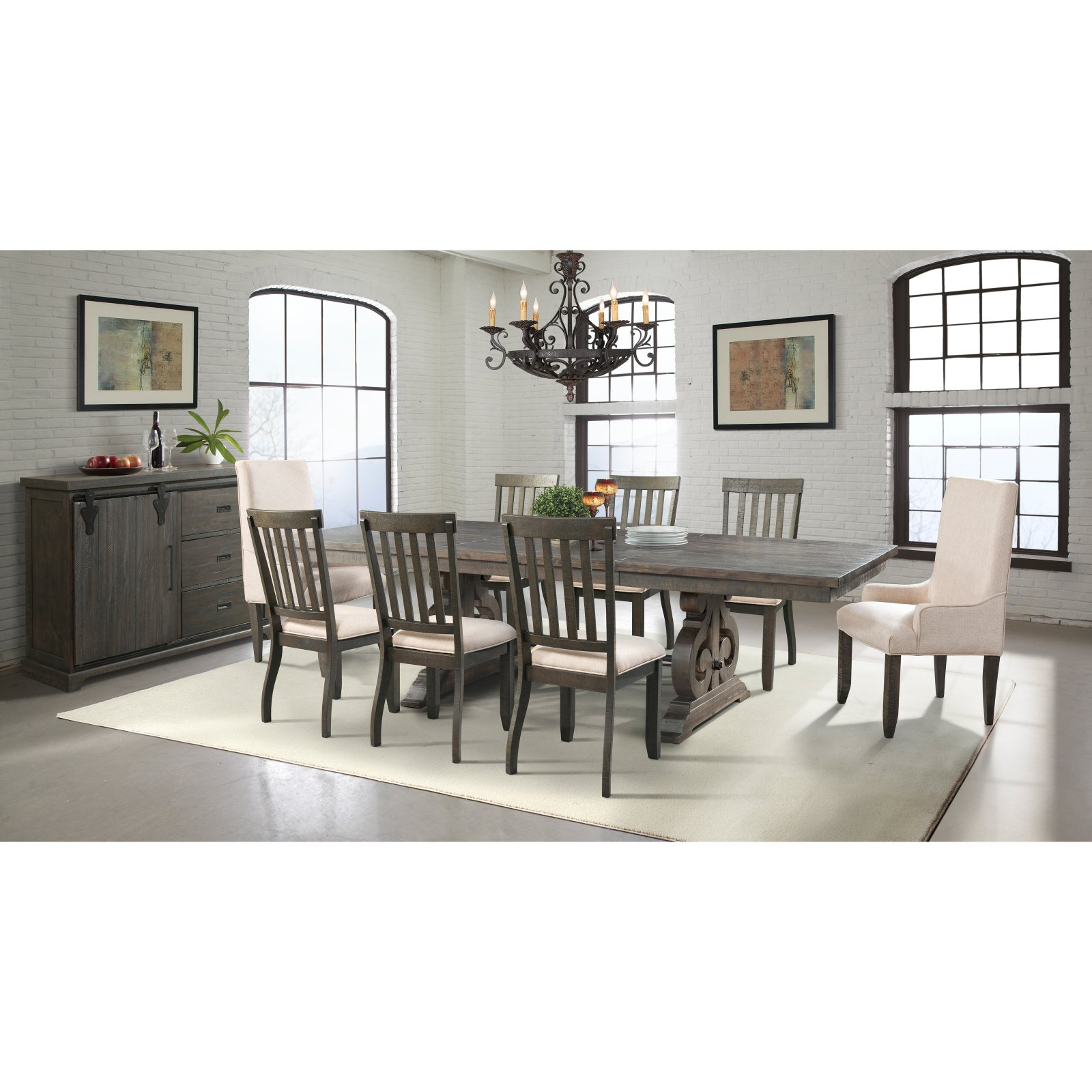 Picket House Stanford 9 Piece Dining Table Set with Server  sc 1 st  Walmart.com & Picket House Stanford 9 Piece Dining Table Set with Server - Walmart.com