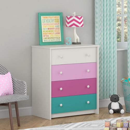 Altra Kaleidoscope Whimsy 4-Drawer Dresser by Cosco