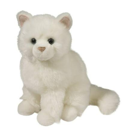 """Douglas Toys Snowball White Cat, 9"""""""