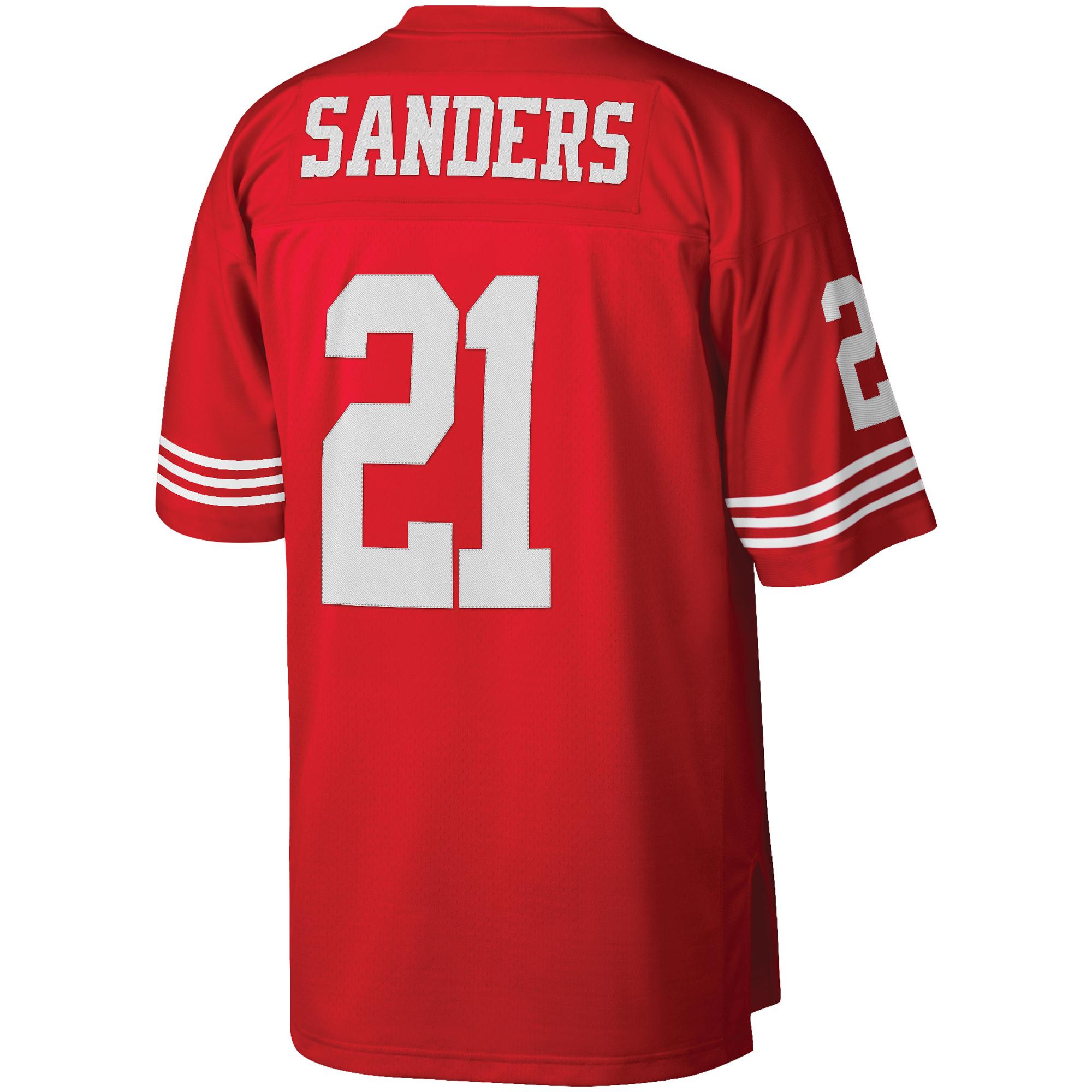 94ebb7301 Deion Sanders San Francisco 49ers Mitchell   Ness Retired Player Vintage  Replica Jersey - Scarlet - Walmart.com