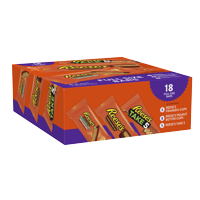 Reese's, Halloween Assorted Milk Chocolate & Peanut Butter Full Size Bars Candy, 18 Ct.