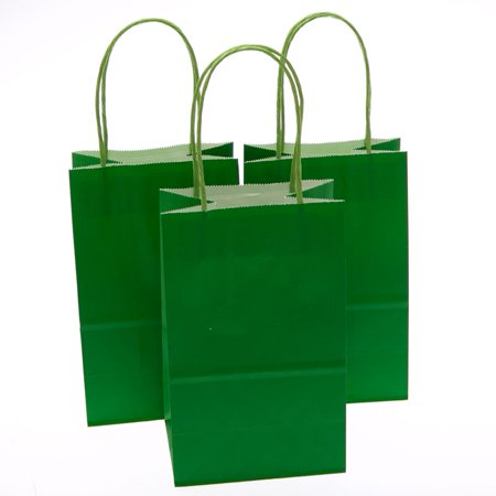 Small Green Kraft Gift Bags - Small Gift Bags In Bulk