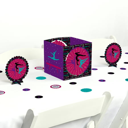 Tumble, Flip & Twirl - Gymnastics - Birthday Party or Gymnast Party Centerpiece & Table Decoration Kit](80th Birthday Centerpieces Decorations)
