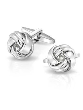 Signal Knot Sided Woven Rope Braid Twist Shirt Cufflinks For Men Hinge Back Graduation Gift Polished Stainless Steel