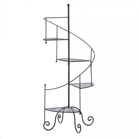 Metal Plant Stand, Black Vintage Tall Tiered Spiral Showcase Metal Plant Stands Tall Iron Stand