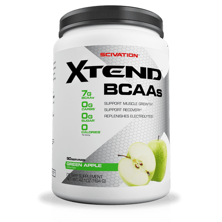 Scivation Xtend BCAA Powder, Green Apple, 90