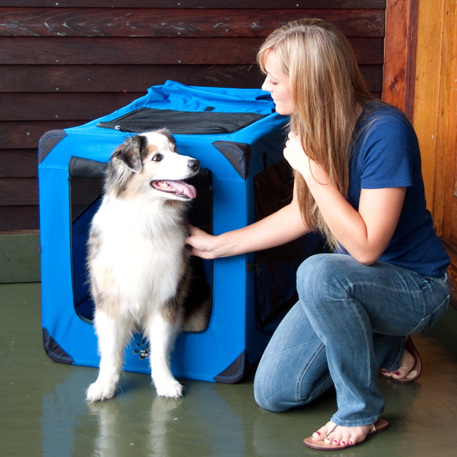 Pet Gear Portable Soft Crate-36 inches-Blue