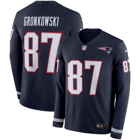 sale retailer c896c 3b250 Rob Gronkowski New England Patriots Nike Therma Long Sleeve Jersey - Navy