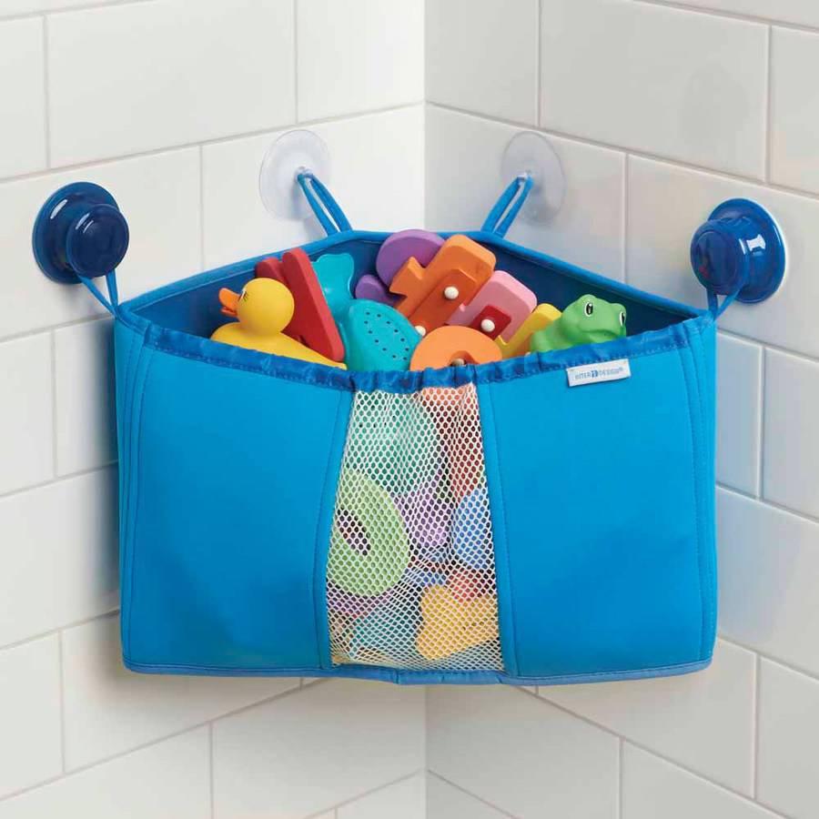 InterDesign Kids Neoprene Corner Bathroom Shower Caddy Basket, Baby ...