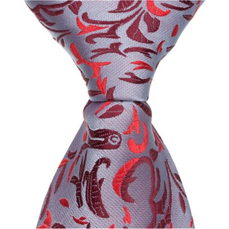 Matching Tie Guy 2633 R3 - 6 in. Newborn Zipper Necktie - Red Decorative Design - image 1 of 1