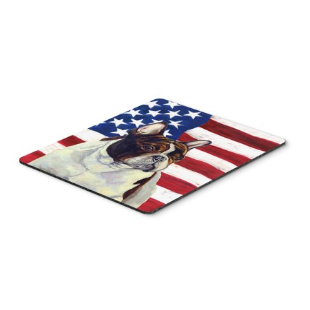 USA American Flag with French Bulldog Mouse Pad, Hot Pad or Trivet
