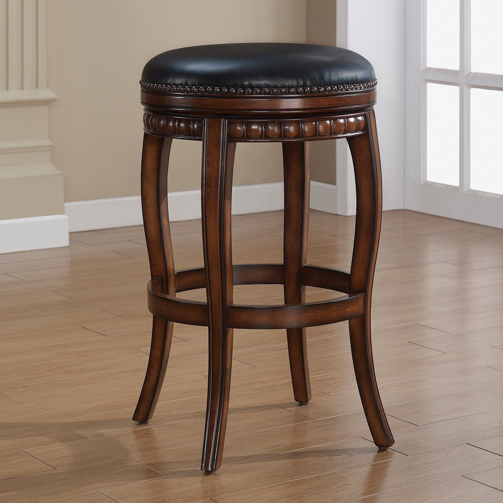 AHB 26 in. Alonza Swivel Counter Stool by American Heritage Billiards