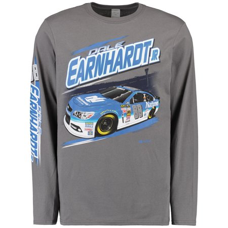 Dale Earnhardt Jr. Full Throttle Long Sleeve T-Shirt - Charcoal Dale Earnhardt Jr Apparel