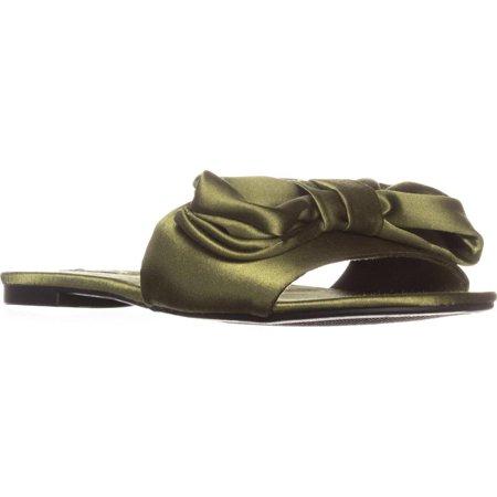 - Womens ZiGi Valiant Flat Slide Sandals, Army Green