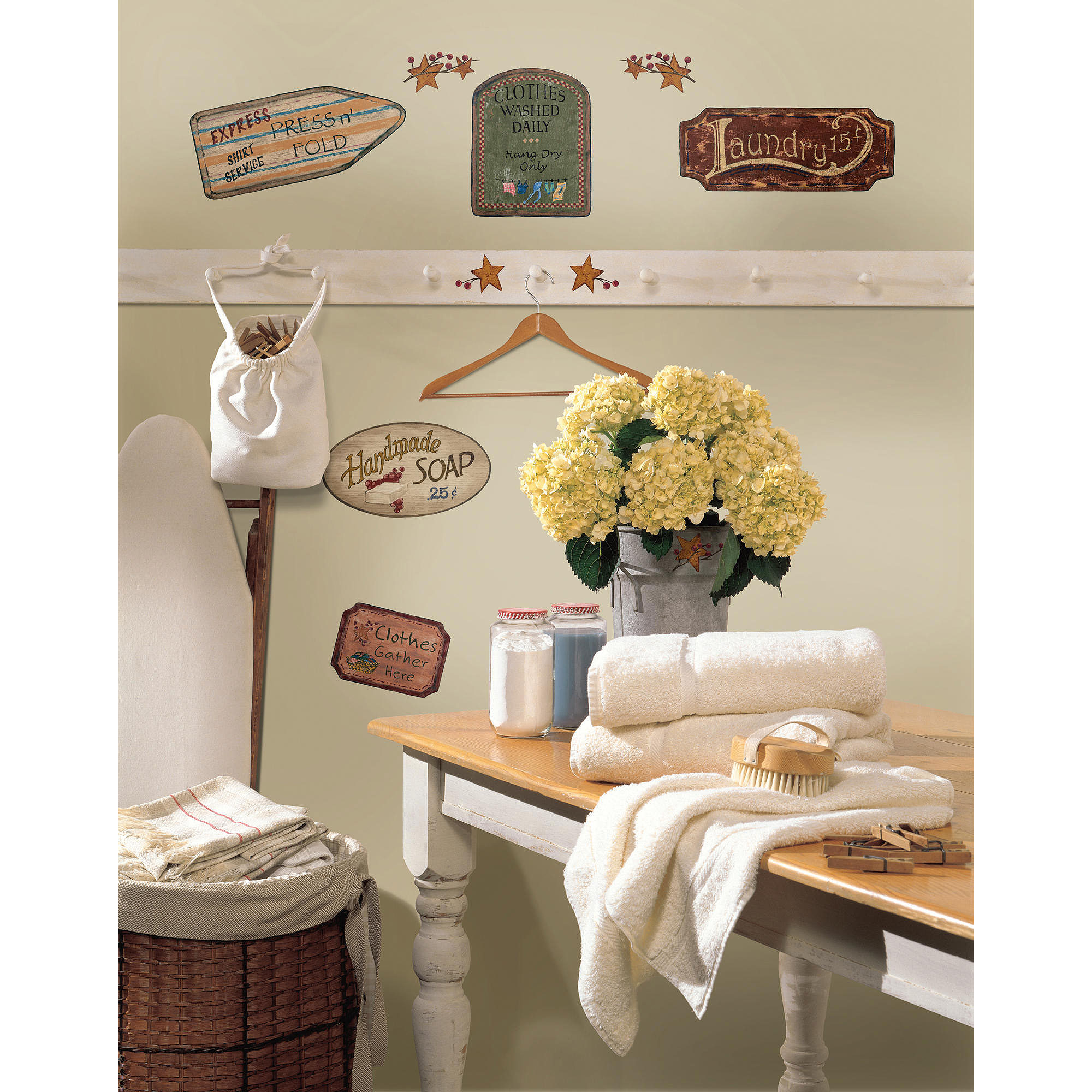 RoomMates Country Signs Peel and Stick Wall Decals