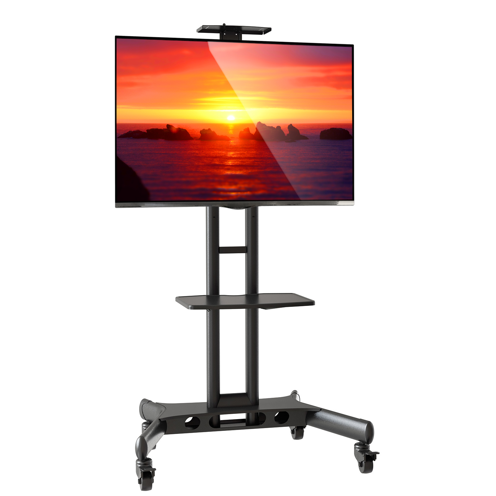 Mount Factory Rolling TV Stand Mobile TV Cart for 40-65 inch Flat Screen, LED, LCD, OLED, Plasma, Curved TV's... by Mount Factory