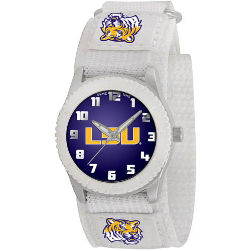 Game Time NCAA Men's Louisiana State Tigers Rookie Series Watch, White