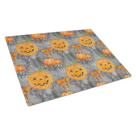 Carolines Treasures BB7521LCB Watecolor Halloween Pumpkins Glass Cutting Board, Large - image 1 of 1