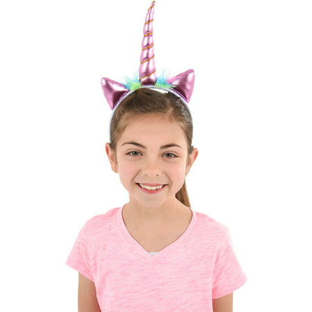 Soft Plush Pink Mystical Magical Unicorn Horn Headband Costume Accessory (Costume Horn)