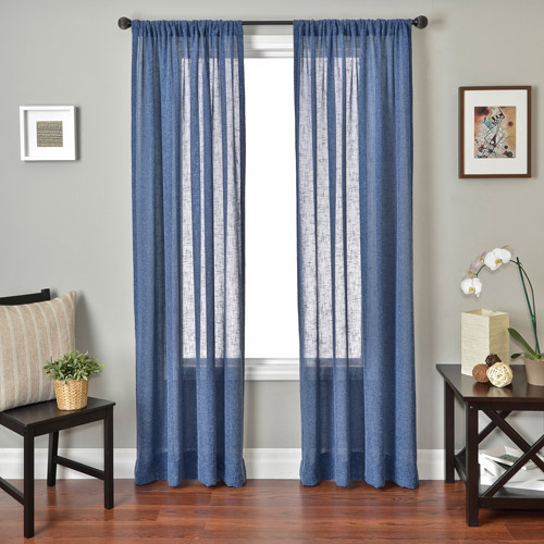 Softline Louvre Rod Pocket Curtain Panel