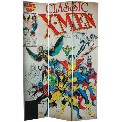 Oriental Furniture 71'' x 47.25'' Tall Double Sided Spider-Man/X-Men 3 Panel Room Divider