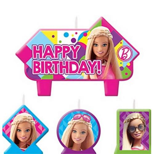 Amscan 171507 Sparkle Barbie Birthday Candles - Pack of 24