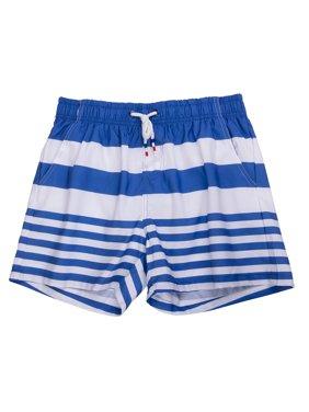 Mens Short Swim Trunks with Mesh Lining Quick Dry Boy Mens Board Shorts Swim Suit