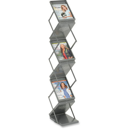 Safco, SAF4132GR, Double Sided Folding Literature Display, 1 Each, Gray