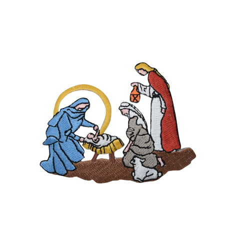 Nativity Scene - Baby Jesus - Christmas - Iron on Applique/Embroidered (Nativity Felt)