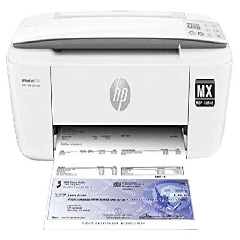 VersaCheck HP Deskjet 3755MX, MICR All-In-One Printer, Gr...