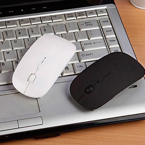 Girl12Queen 2.4 GHz Slim Optical Wireless Mouse Mice + USB Receiver for Macbook Laptop PC